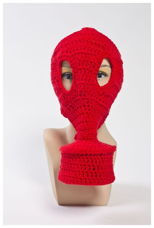 Gas Mask (red with mannequin)